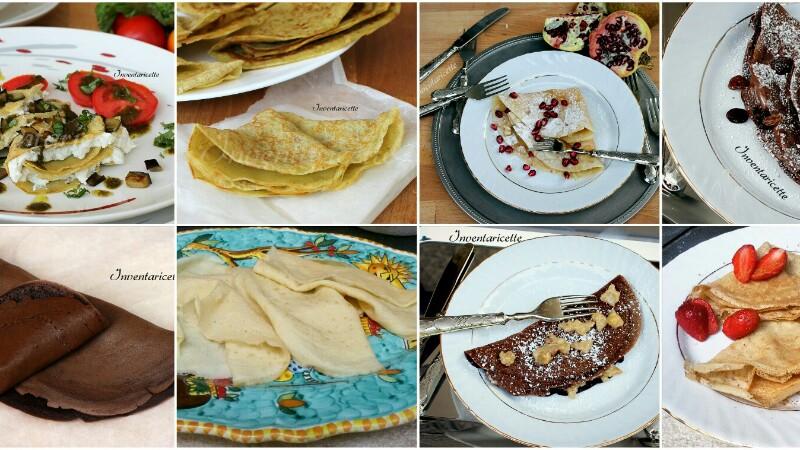 COME FARE LE CREPES ricette per crepes dolci e salate