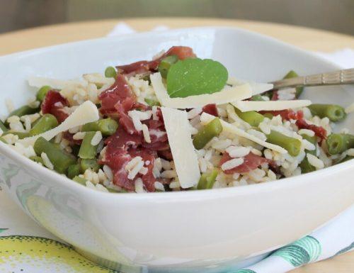 RISO FREDDO ricetta leggera senza maionese con bresaola e grana