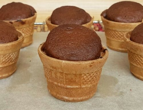 TORTINE FINGER FOOD AL CIOCCOLATO in cialda gelato