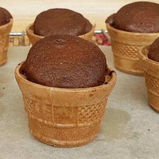 FINGER FOOD COLAZIONE tortine al cioccolato in cialda gelato
