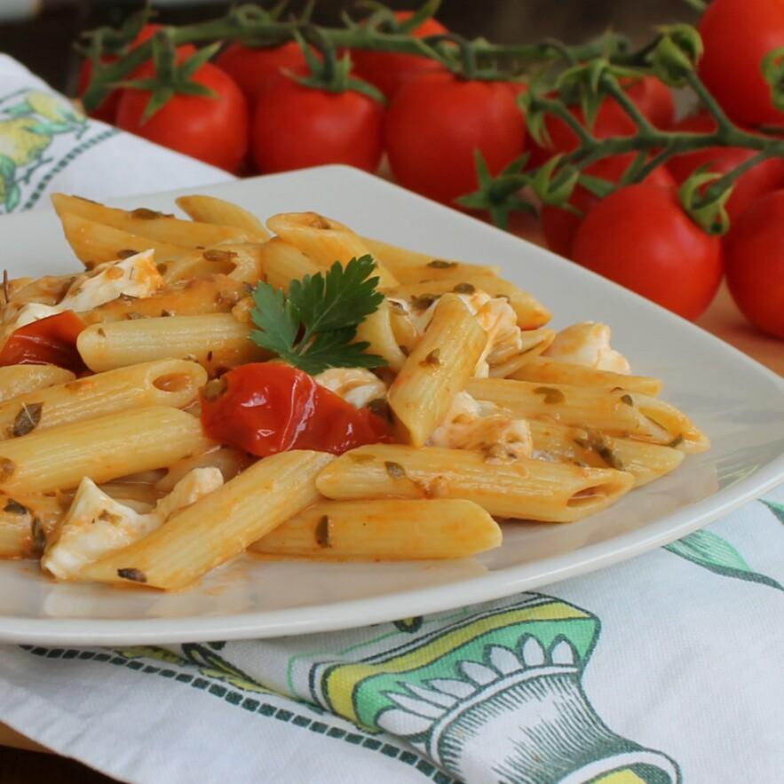 PASTA ALLA PIZZAIOLA ricetta primo piatto facile e veloce