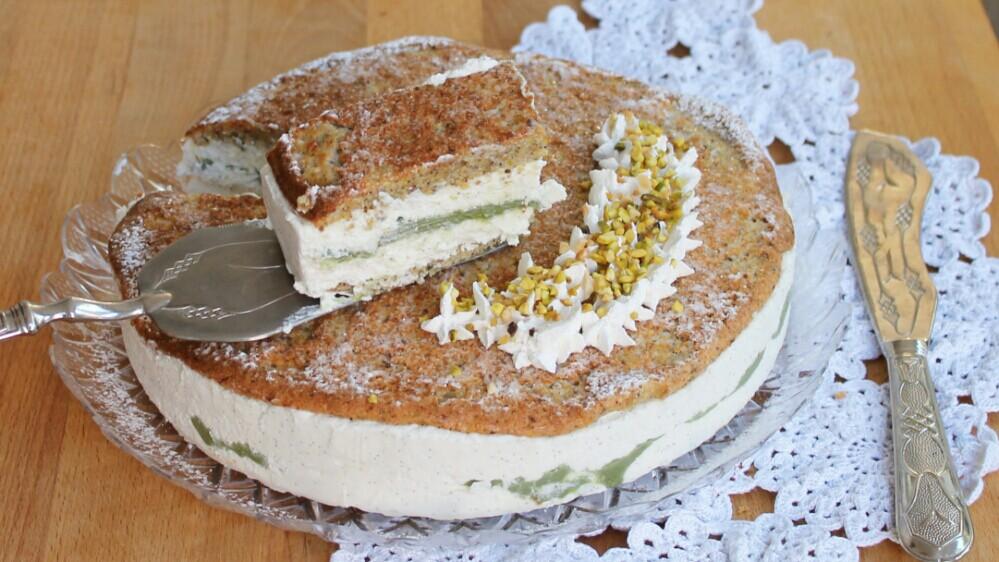 PISTACCHIONA FREDDA torta semifreddo al pistacchio e nocciole