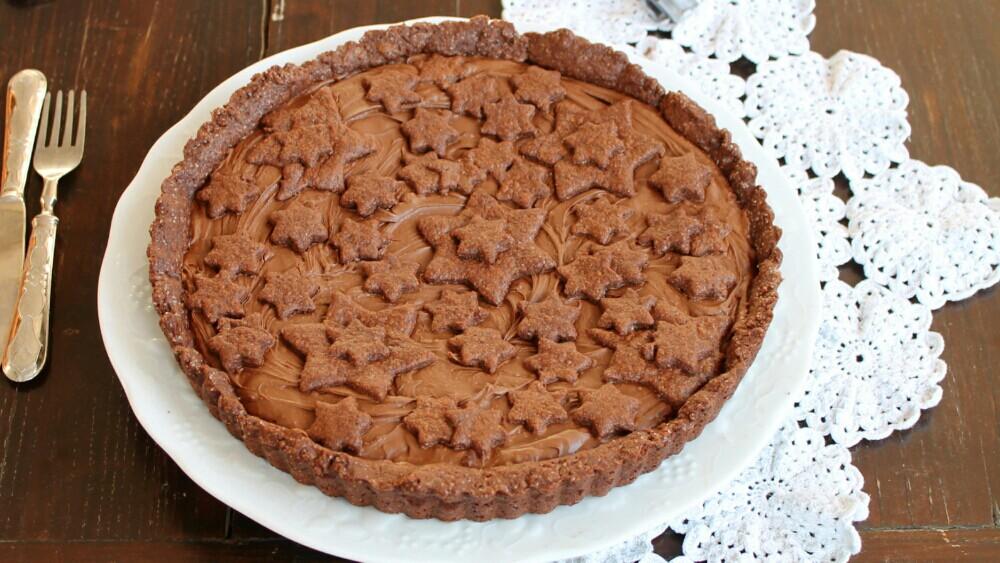 Crostata Morbida al Cacao con Nutella O Confettura a Piacere