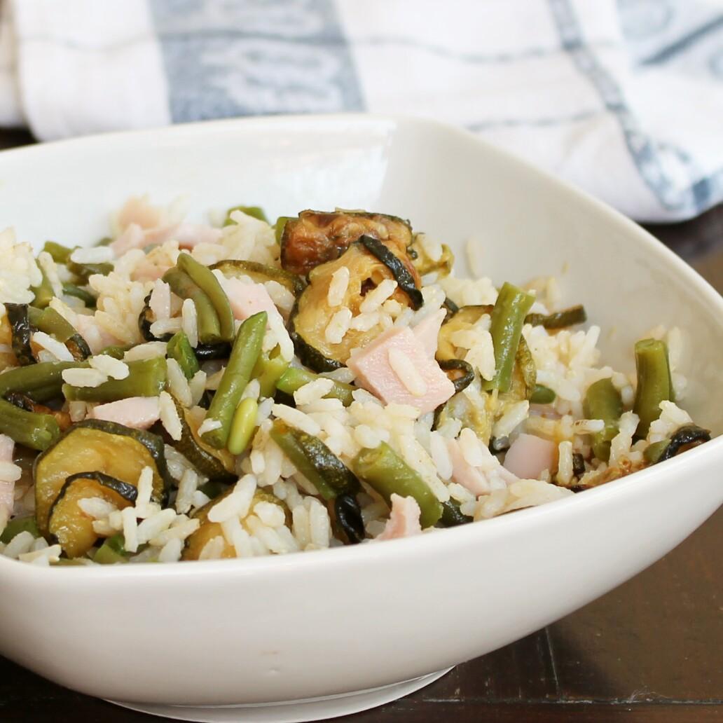 RICETTA INSALATA DI RISO con prosciutto e zucchine