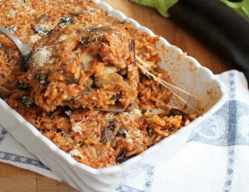 RISO E MELANZANE AL FORNO ricetta sformato di riso con melanzane