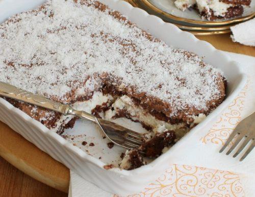 RICETTA TIRAMISU SENZA UOVA torta cocco e nutella senza cottura