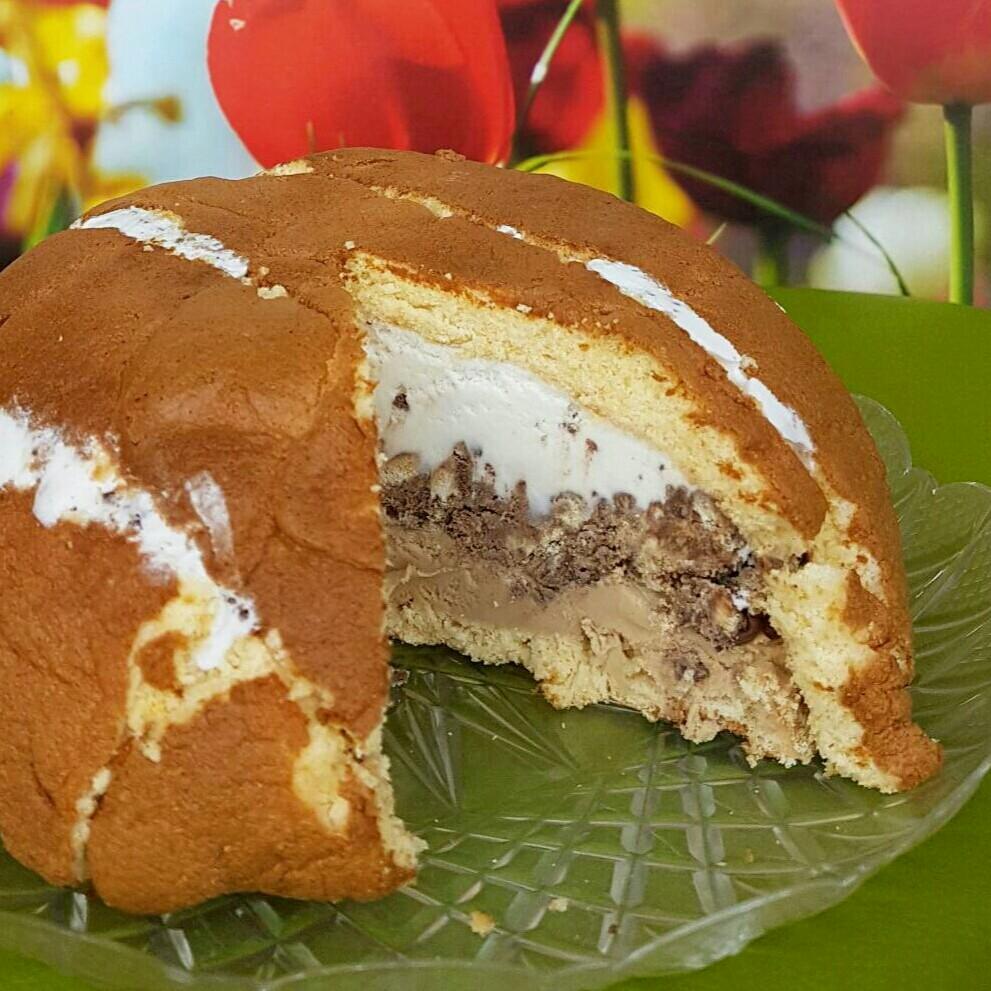 ZUCCOTTO NOCCIOLA E STRACCIATELLA semifreddo nutella gelato