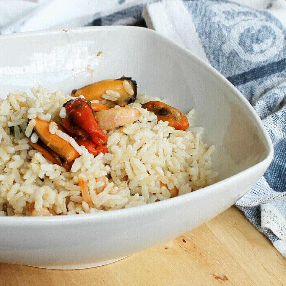 RISO CON COZZE E GAMBERI ricetta primo piatto caldo o freddo