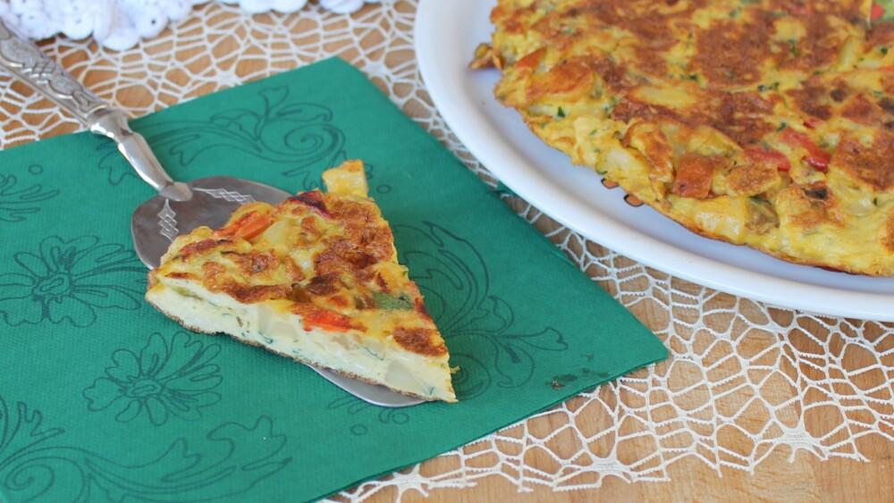 FRITTATA CON PEPERONI E PATATE ricetta secondo piatto facile