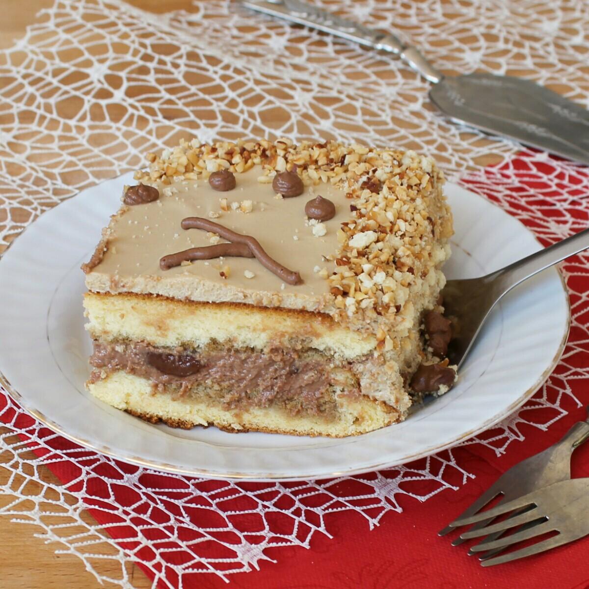 TORTA CON NUTELLA E CAFFE' ricetta torta compleanno