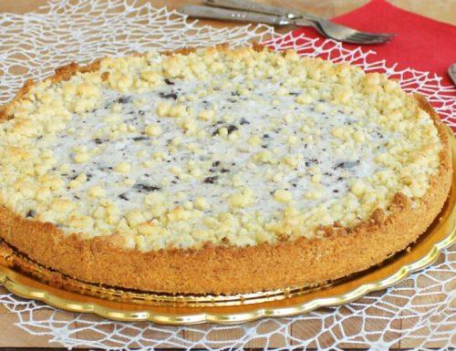 SBRICIOLATA FREDDA ricetta torta fredda con ricotta e cioccolato