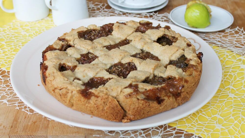CROSTATA DI FICHI FRESCHI ricetta torta con fichi noci limone