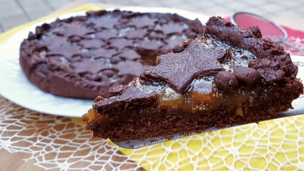 Crostata al Cacao con Fichi Ricetta Senza Burro e Uova