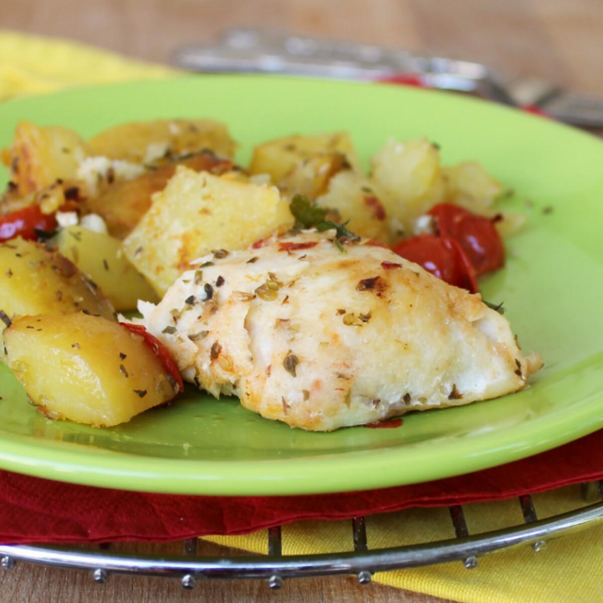 MERLUZZO CON PATATE AL FORNO ricetta pesce al forno