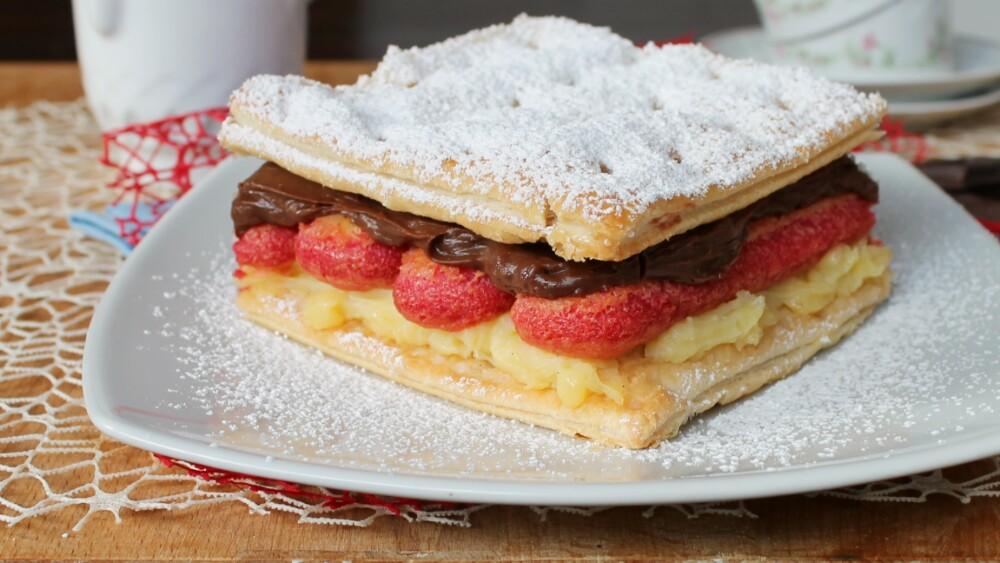 ZUPPA INGLESE FACILE ricetta torta millefoglie crema alchermes
