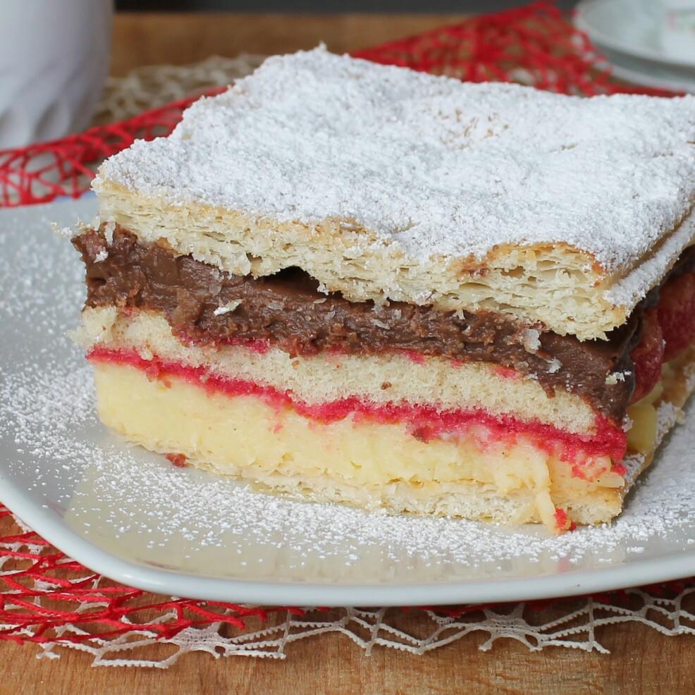 ZUPPA INGLESE FACILE ricetta torta millefoglie cioccolato alchermes