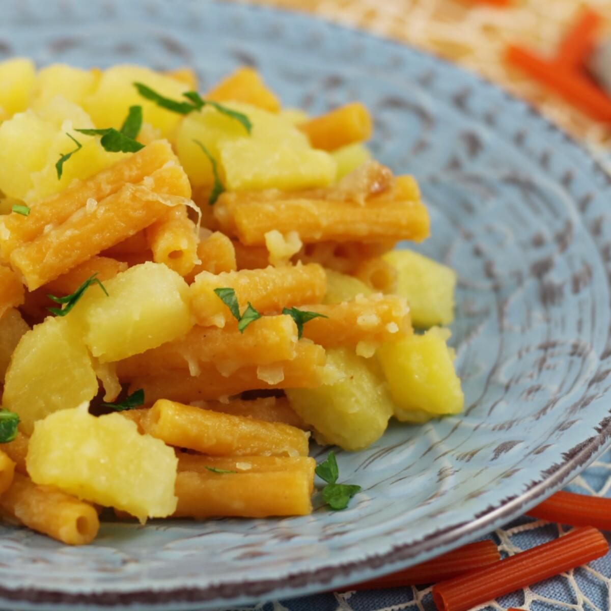 RICETTA PASTA CON PATATE VELOCE primo piatto pasta e patate