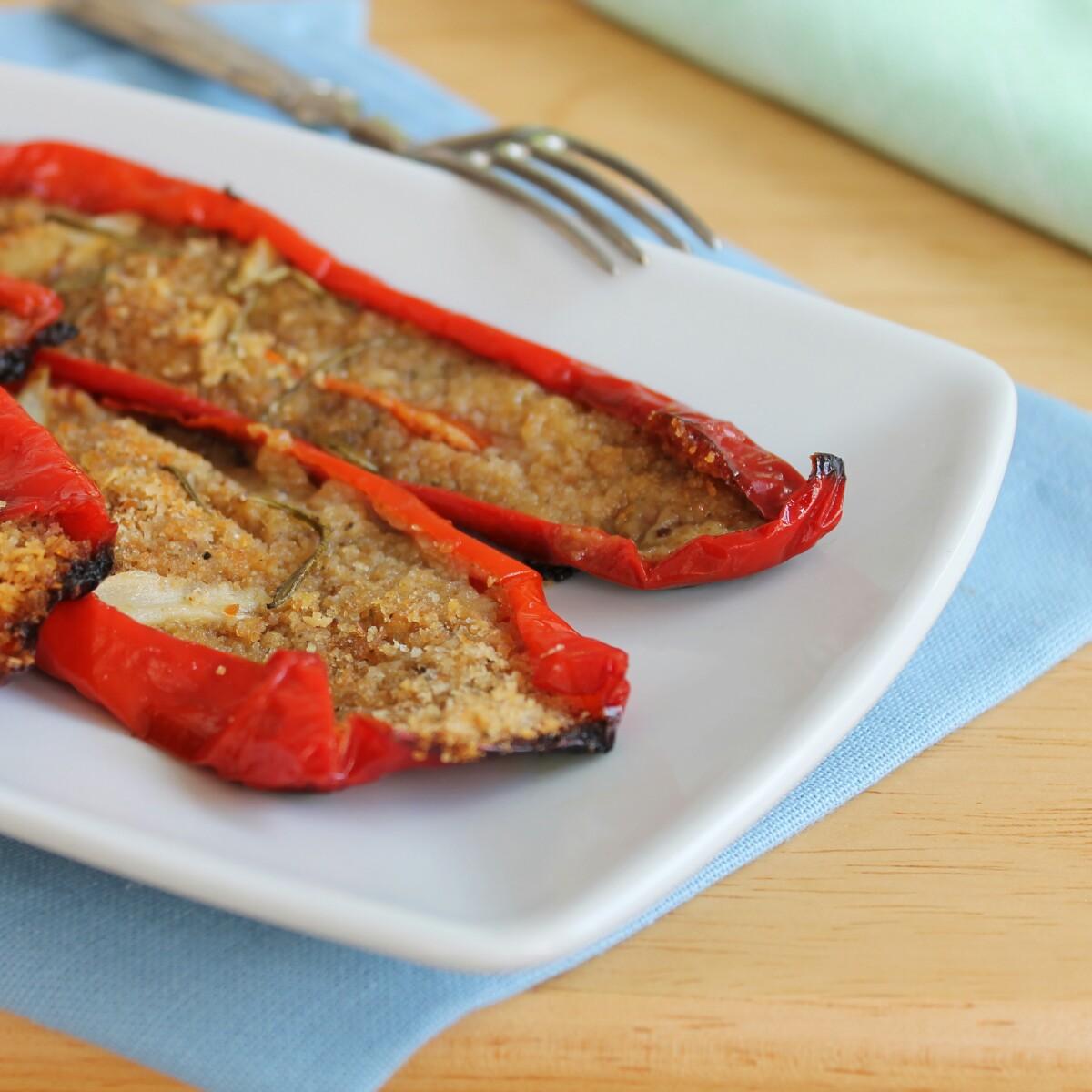PEPERONI GRATINATI AL FORNO ricetta verdure al forno gratinate