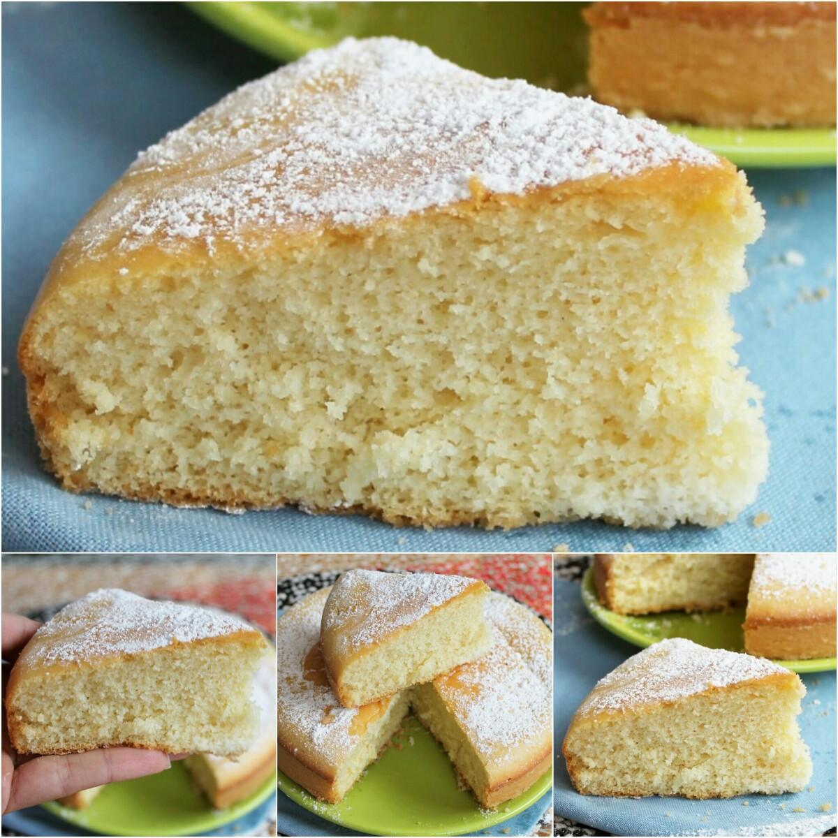 TORTA ALL ACQUA CALDA ricetta torta sofficissima senza burro