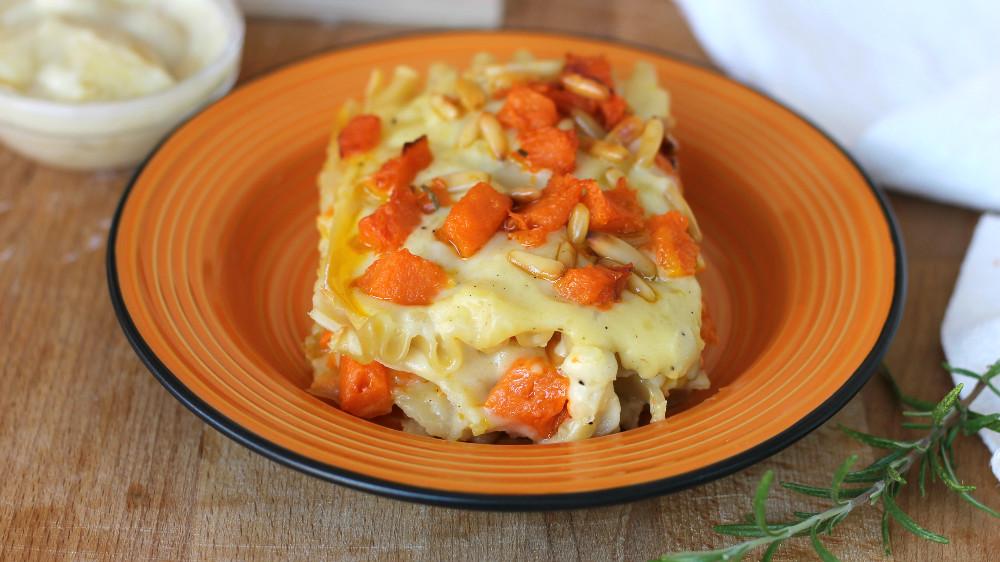 LASAGNE ALLA ZUCCA e crema di patate