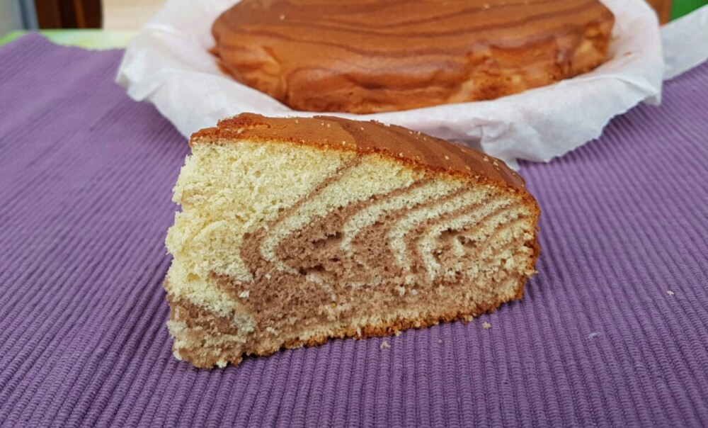 TORTA ZEBRATA ALLO YOGURT ricetta torta allo yogurt variegata