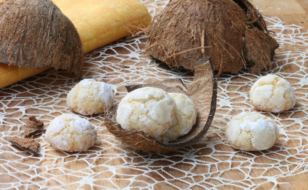 BISCOTTI AL COCCO MORBIDI ricetta biscotti con farina di cocco