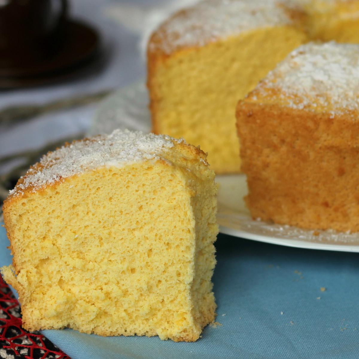CIAMBELLONE AMERICANO chiffon cake arancia vaniglia senza burro
