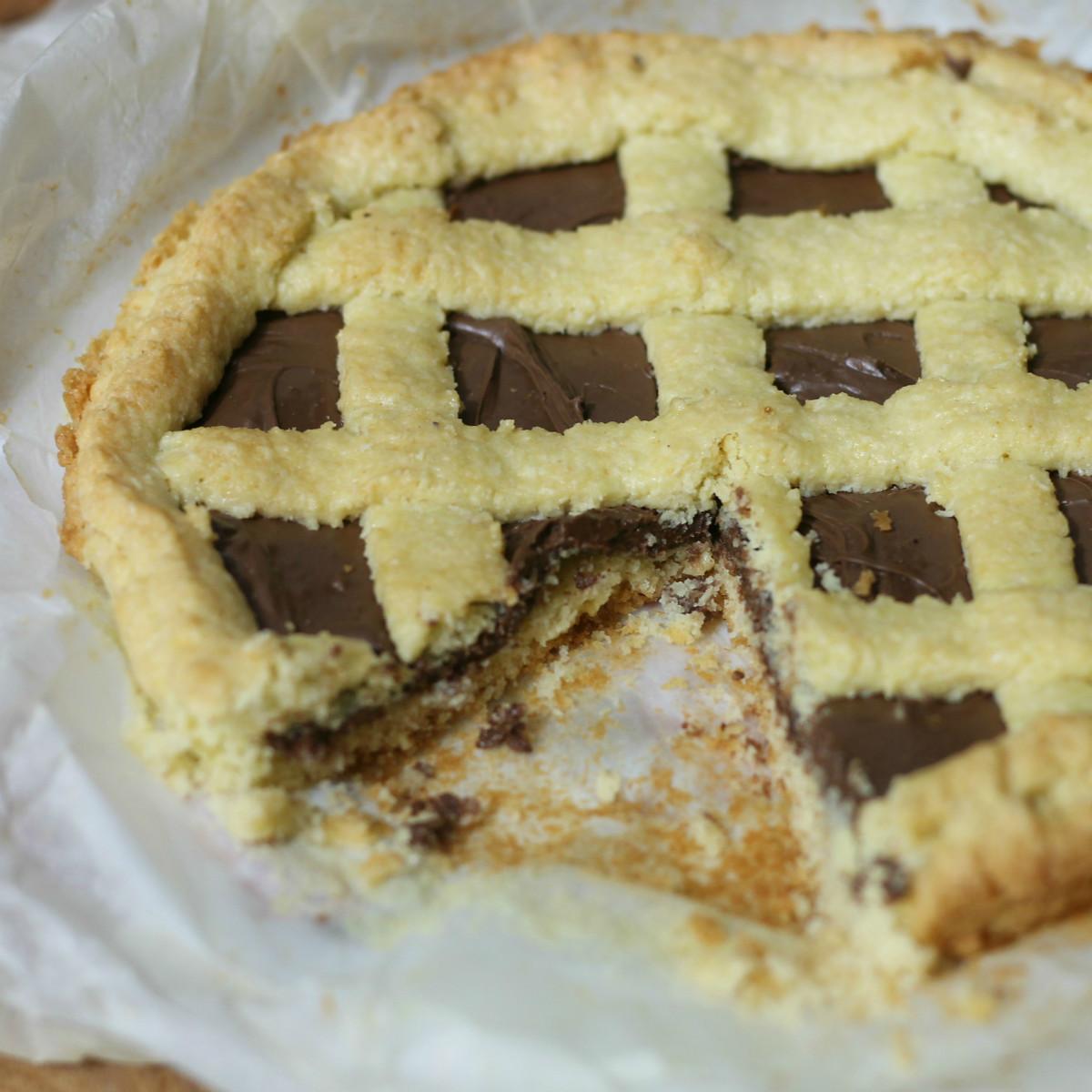 CROSTATA COCCO E NUTELLA ricetta torta dolce alla nutella cocco
