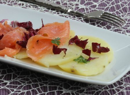 SALMONE CON PATATE ALL' INSALATA