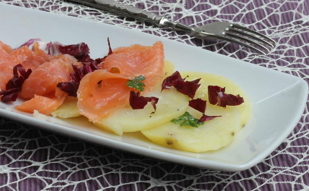 SALMONE CON PATATE ALL INSALATA ricetta veloce per cena