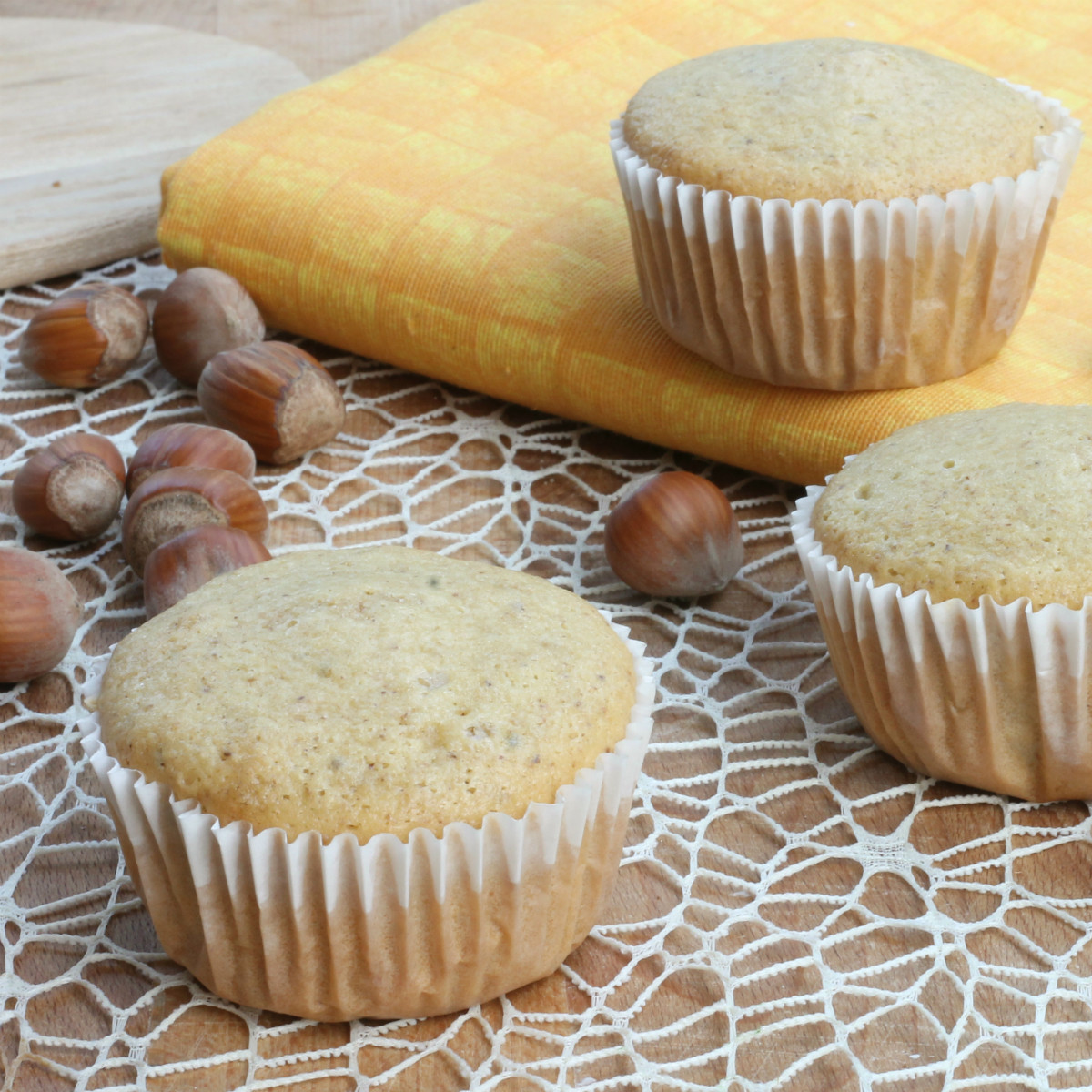 MUFFIN ALLE NOCCIOLE ricetta tortine morbidissime senza burro