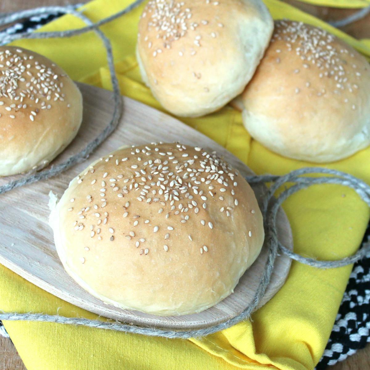 PANINI PER HAMBURGER | burger buns | ricetta pane per hamburger