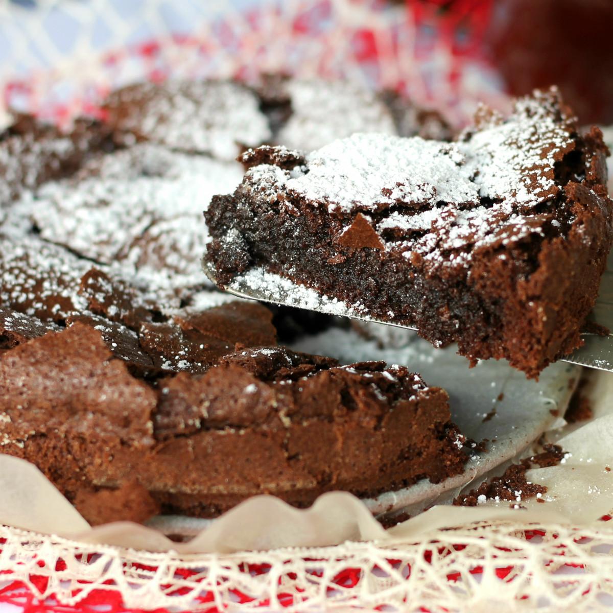 Ricetta di torta tenerina al cioccolato