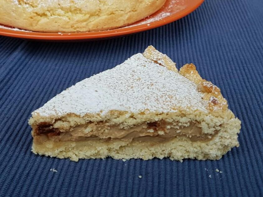 CROSTATA COCCO E CAFFè ricetta torta di pasta frolla con crema