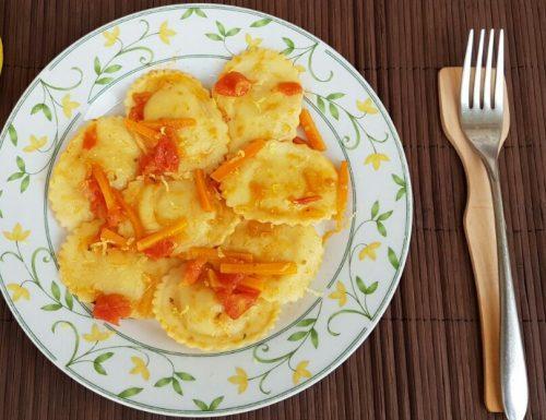 RAVIOLI AL LIMONE con carote e cipolle