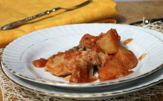 BACCALà CON PATATE ricetta baccalà in umido con patate in cassuola