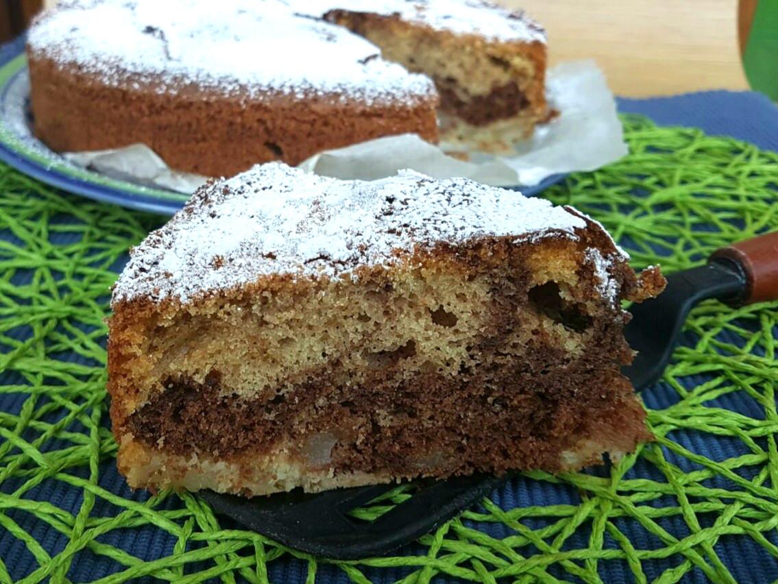 TORTA PERE E CIOCCOLATO SOFFICISSIMA ricetta torta senza burro