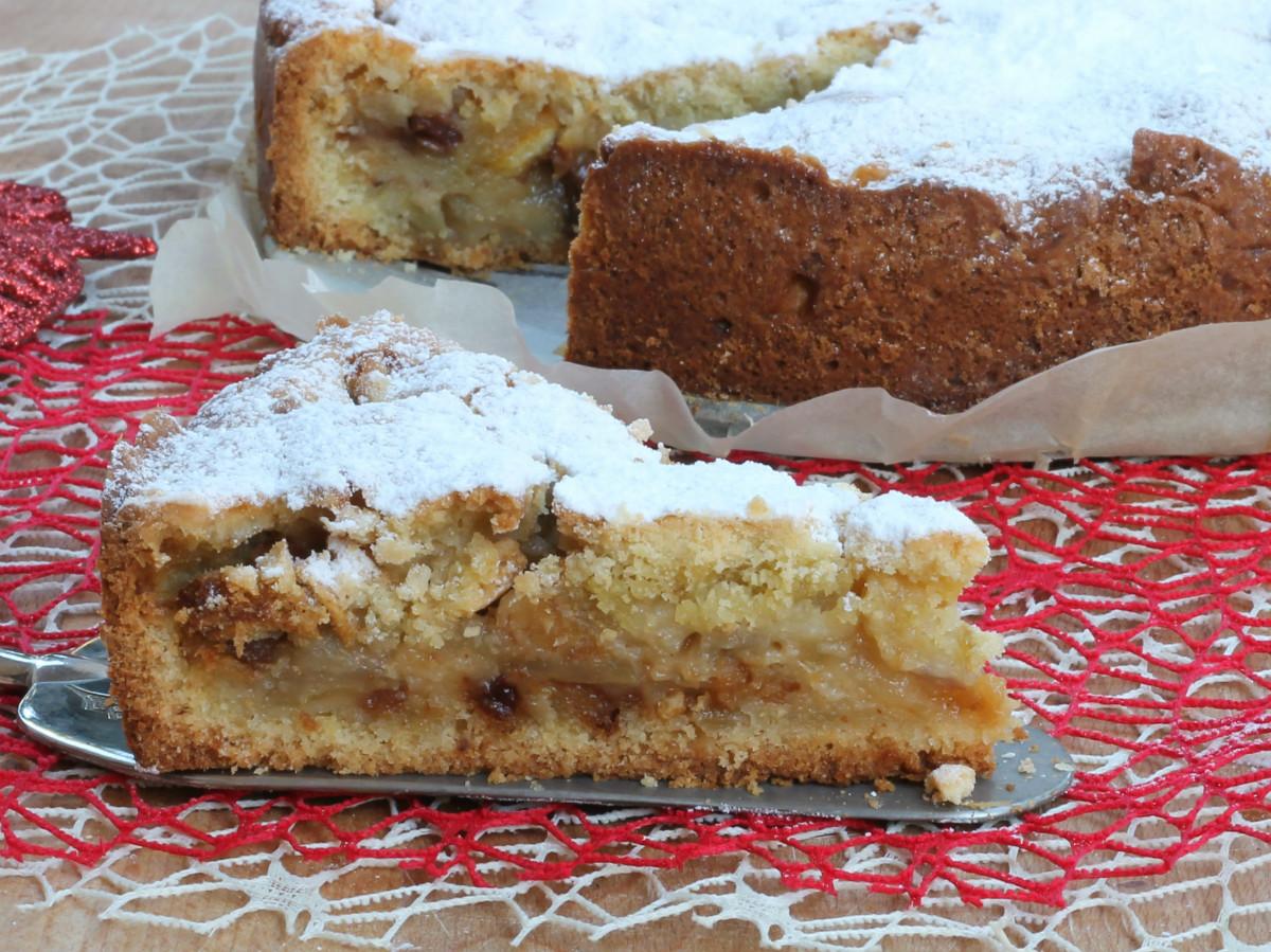 DOLCE CON PANETTONE ricetta crostata mele e panettone di Natale