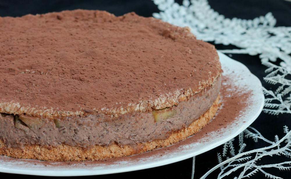 TORTA RICOTTA PERE CIOCCOLATO ricetta semifreddo al cioccolato