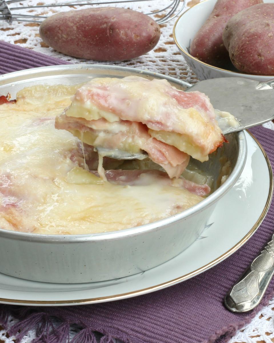 Parmigiana Bianca Patate e Prosciutto