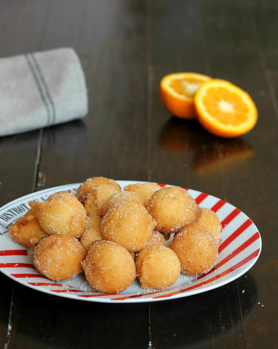 CASTAGNOLE CLASSICHE ALL ARANCIA ricetta dolce tipico fritto