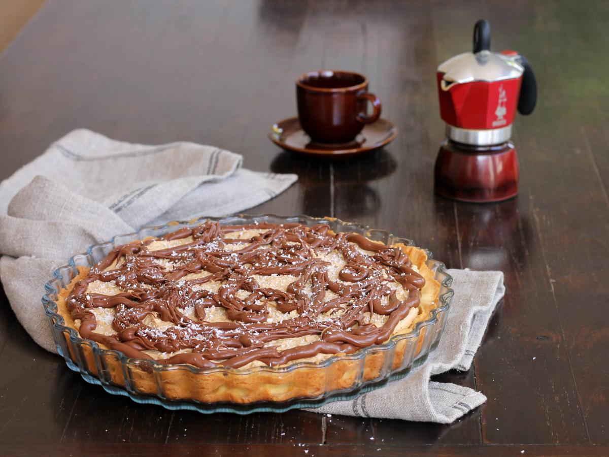 CROSTATA FREDDA CAFFE COCCO NUTELLA ricetta dolce cremoso