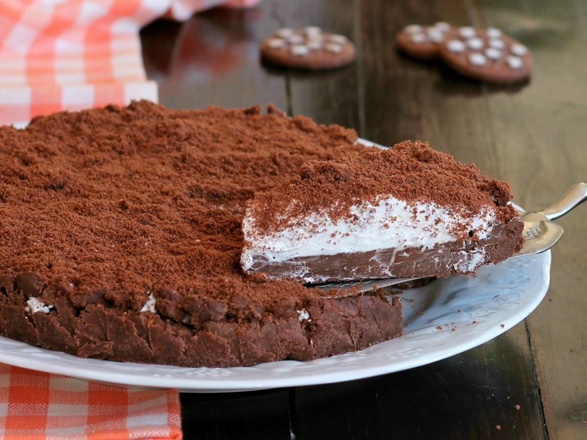 CROSTATA PAN DI STELLE SENZA COTTURA ricetta torta fredda