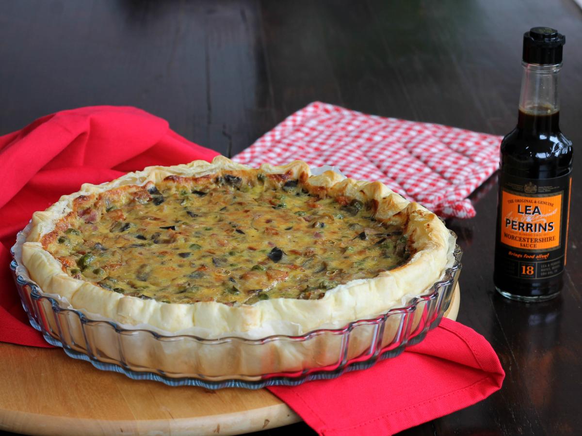 QUICHE CON VERDURE PANCETTA ricetta torta salata tipica francese