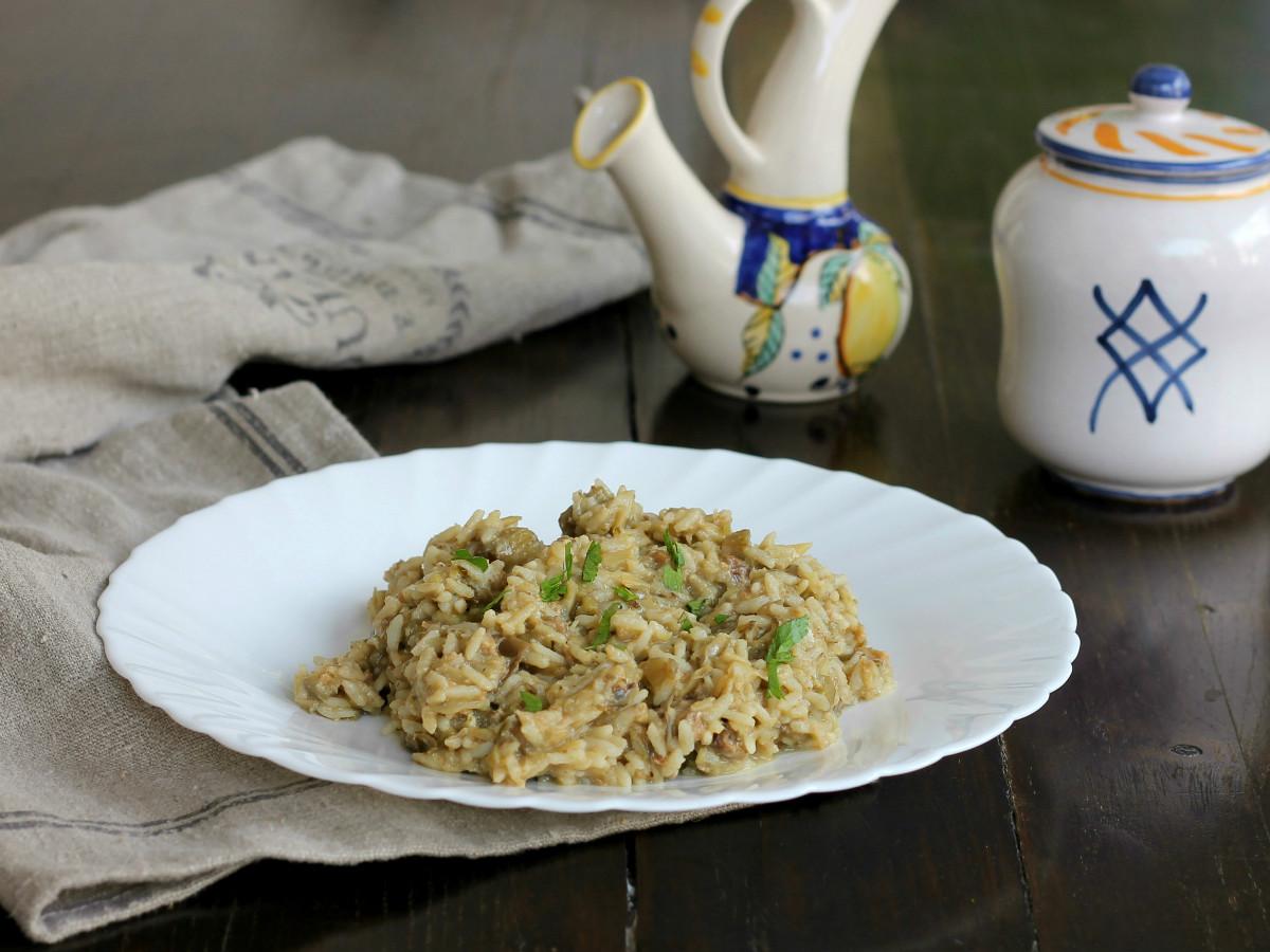 RISOTTO CON CARCIOFI ricetta primo piatto cremoso con verdure