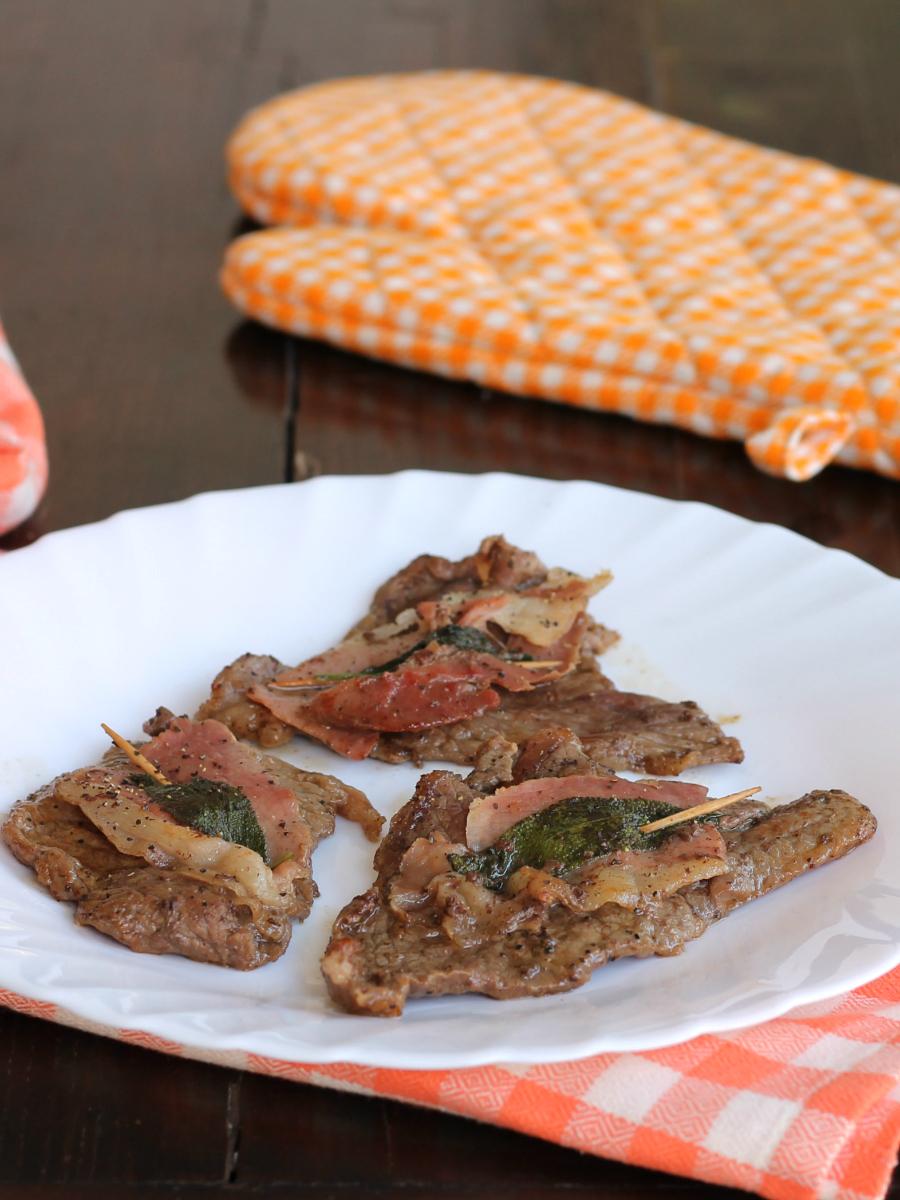 SALTIMBOCCA ALLA ROMANA ricetta secondo piatto tradizionale