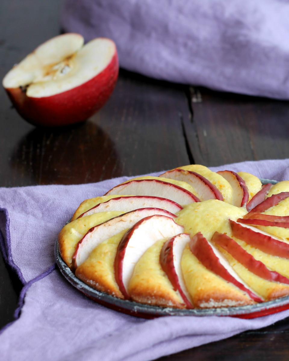SCENDILETTO ALLE MELE ricetta torta di mele senza burro e olio