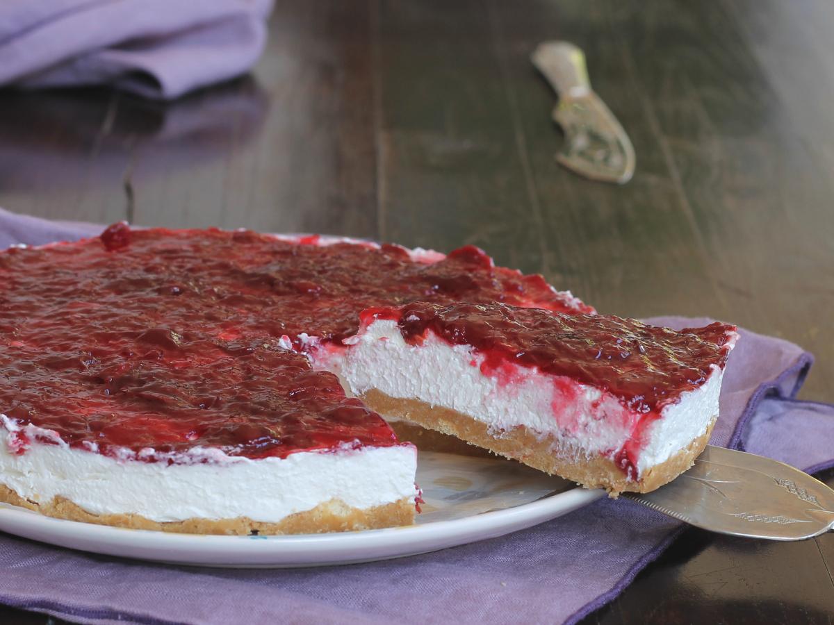 TORTA SENZA COTTURA ALL AMARENA ricetta crostata con marmellata