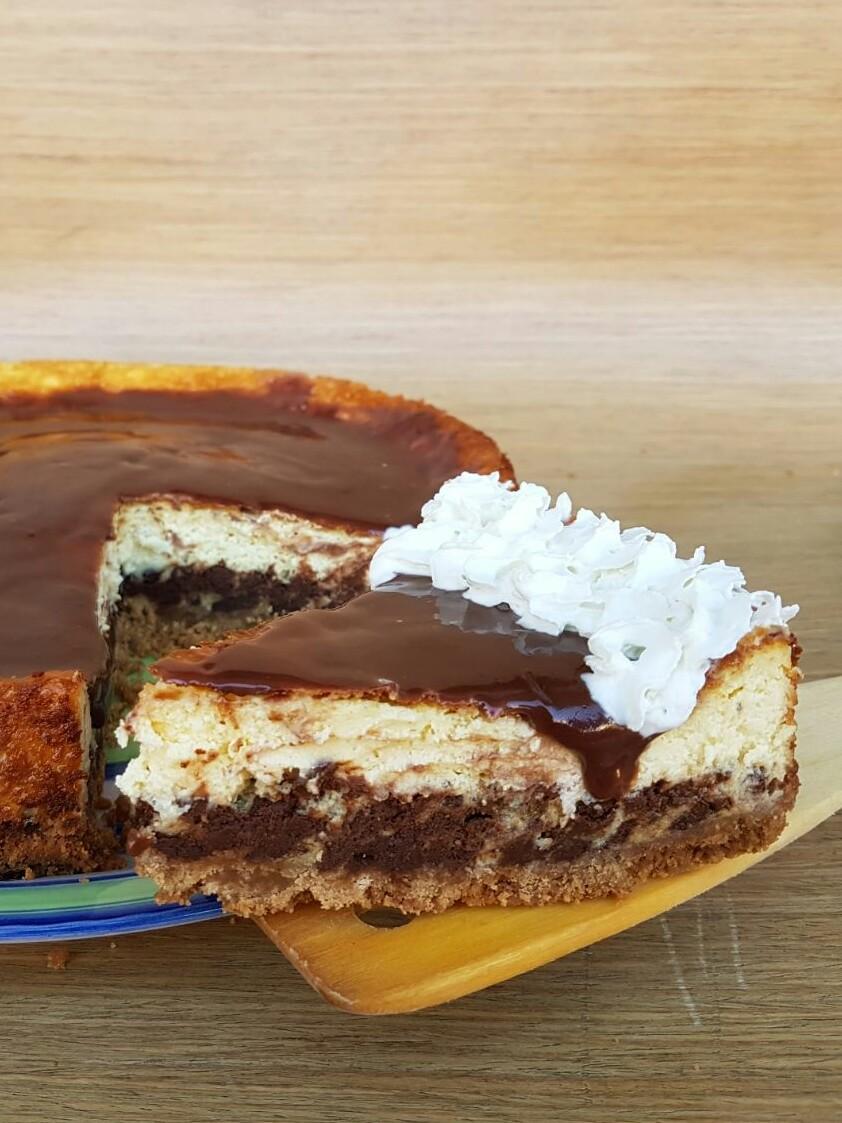RICETTA CHEESECAKE CIOCCOLATO NUTELLA dolce da forno