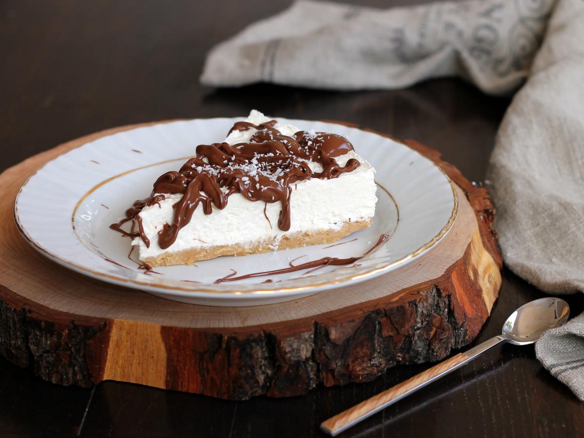 CHEESECAKE COCCO NUTELLA ricetta torta fredda senza cottura